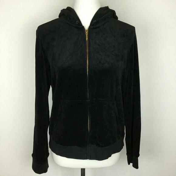 270e6cda6587 Ralph Lauren Tops | Velour Zip Up Hoodie Jacket | Poshmark